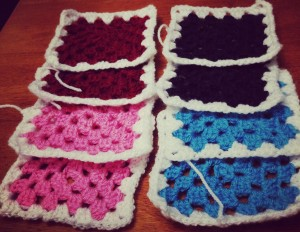 Granny Squares for Mood Blanket